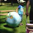 地球のビーチボール