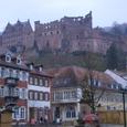 Kornmarktより城を臨む